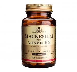 Магнезий с Витамин В6 / Magnesium with Vitamin B6 х100 таблетки – SOLGAR