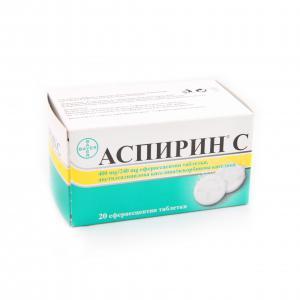 АСПИРИН + ВИТАМИН C / ASPIRIN + VITAMIN C ефервесцентни таблетки x 20 – Bayer