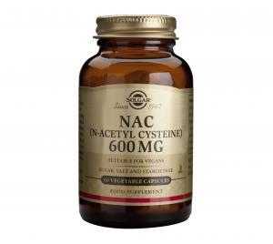 Н-Ацетил Цистеин / NAC (N-Acetyl Cysteine) 600 mg х60 растителни капсули – SOLGAR