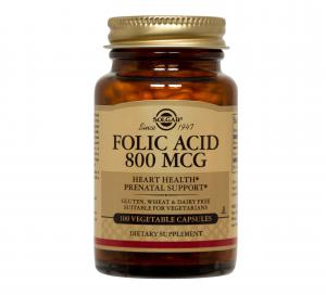 Фолиева Киселина / Folic Acid 800 μg х100 растителни капсули – SOLGAR