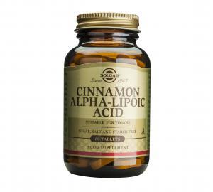 Канела Алфа-Липоева Киселина / Cinnamon Alpha-Lipoic Acid х60 таблетки – SOLGAR