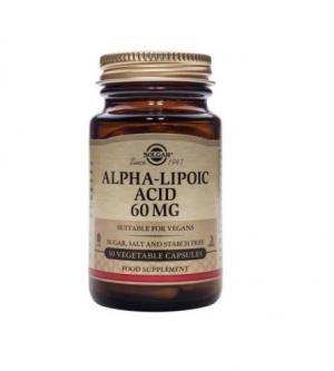 Алфа-Липоева Киселина 60 мг х30 капсули – SOLGAR