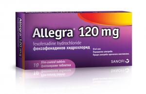 АЛЕГРА при сенна хрема / ALLEGRA филмирани таблетки 120 мг х 10 бр.- Sanofi