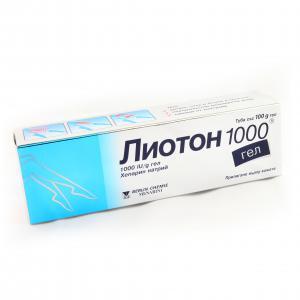 ЛИОТОН 1000 гел / LIOTON 1000 gel х 100гр- Berlin-Chemie АG
