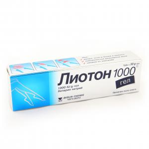 ЛИОТОН 1000 гел / LIOTON 1000 gel х 30гр- Berlin-Chemie АG