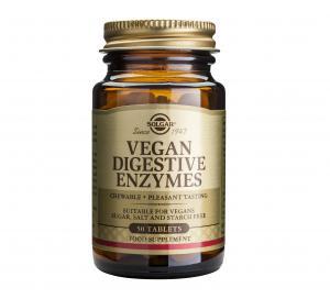 Веган Храносмилателни Ензими / Vegan Digestive Enzymes х50 дъвчащи таблетки – SOLGAR