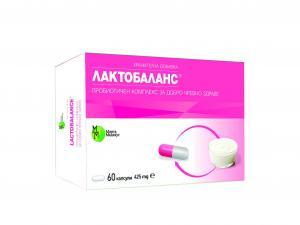 ЛАКТОБАЛАНС / LACTOBALANCE пробиотичен комплекс х 60 капсули – Mirta Medicus