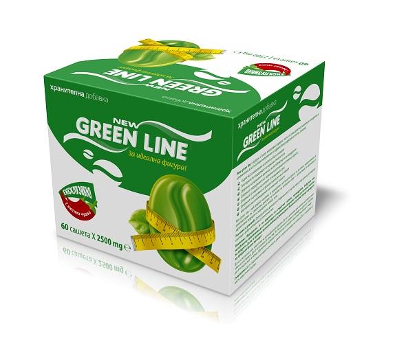 Описание  НЮ ГРИЙН ЛАЙН / NEW GREEN LINE е изцяло натуралната хранителна добавка на Петя Раева, която спомага за подтискане на глада, увеличаване на метаболизма и изгаряне на мазнините. Иновативната формула за отслабване съдържа люти чушки - кайен, зелено кафе, артишок, челен чай, африканско манго и други, които действат комплексно, синергично и целенасочено в петте основни направления за здравословна редукция на теглото, а именно:  > Подтискане на апетита и бързо засищане> Засилване на мастният метаболизъм в черният дроб> Балансиране на нивата на кръвната захар.> Мощна антиоксидантна защита срещу свободни радикали> Лимфодренажен, диуретичен и лек лаксативен ефект.     New Green Line e изключително добър комплекс от внимателно съчетани екстракти на растения, микроелементи и аминокиселини, със синергично действие за постигане на оптимален ефект – детоксикация и здравословна редукция на наднормено телесно тегло. Едновременно с това зарежда с енергия. Може да разгледате и останалите продукти на Zonapharm на Farma.bg! Ако изпитвате трудност с избора на продукт, не се колебайте да се свържете с нашия магистър-фармацевт. Очакваме Ви!