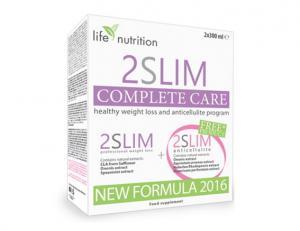 КОМПЛЕКТ Къмплийт Кеър – 2Слим Нова Формула х300 мл + 2Слим Антицелулит х300 мл / SET Complete Care – 2Slim New Formula + 2Slim Anticellulite – Life Nutrition