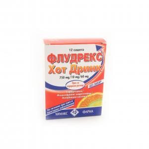 ФЛУДРЕКС ХОТ ДРИНК / FLUDREX HOT DRINK  без захар саше x12 – Chemax Pharma