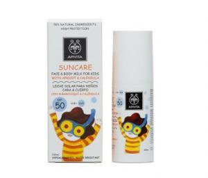 APIVITA SUNCARE Face and Body Milk for Kids SPF50 with apricot and calendula / АПИВИТА Слънцезащитно мляко за лице и тяло за деца SPF 50 с кайсия и невен 100мл.