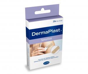 ХАРТМАН ПЛАСТИРИ DermaPlast sensitive, хипоалергенна адхезивна лепенка.нетъкан 6х10см х 10