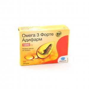 ОМЕГА 3 ФОРТЕ 1000 мг / OMEGA 3 FORTE 1000 mg х 30 бр. – Адифарм