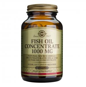 Концентрирано Рибено Масло 1000 мг / Fish Oil Concentrate 1000 mg х 60 меки капсули – SOLGAR