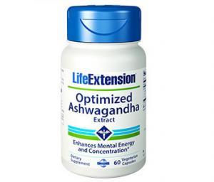 ЛАЙФ ЕКСТЕНШЪН Оптимизиран екстракт от Ашваганда ( без стимуланти) / LIFE EXTENSION Optimized Ashwagandha Extract (stimulant free)- 60  вегетариански капсули