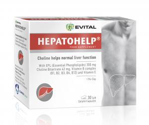 Хепатохелп / Hepatohelp за черен дроб x 30 капсули – Evital