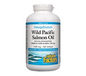 Mасло от Дива Тихоокеанска Сьомга 1000 мг х360 капсули – Natural Factors