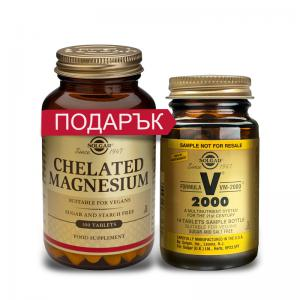 КОМПЛЕКТ SOLGAR Хелатен Магнезий 100 мг x100 таблетки + Формула ВМ 2000 x14 таблетки