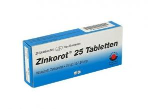 Цинкорот 25 мг / Zinkorot 25 mg х20 таблетки – Worwag Pharma