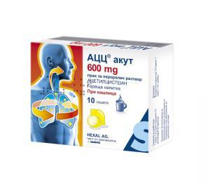 АЦЦ-АЦЕТИЛЦИСТЕИН АКУТ 600 / АCC ACETYLCYSTEINE ACUTE 600 гореща напитка прах 600 мг x 10 – Sandoz