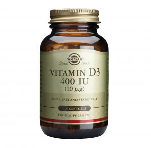 Витамин Д3 400 IU (10 мкг) / Vitamin D3 400 IU (10 mcg) х100 меки капсули – SOLGAR