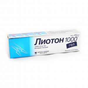 ЛИОТОН 1000 гел / LIOTON 1000 gel х 50гр- Berlin-Chemie АG