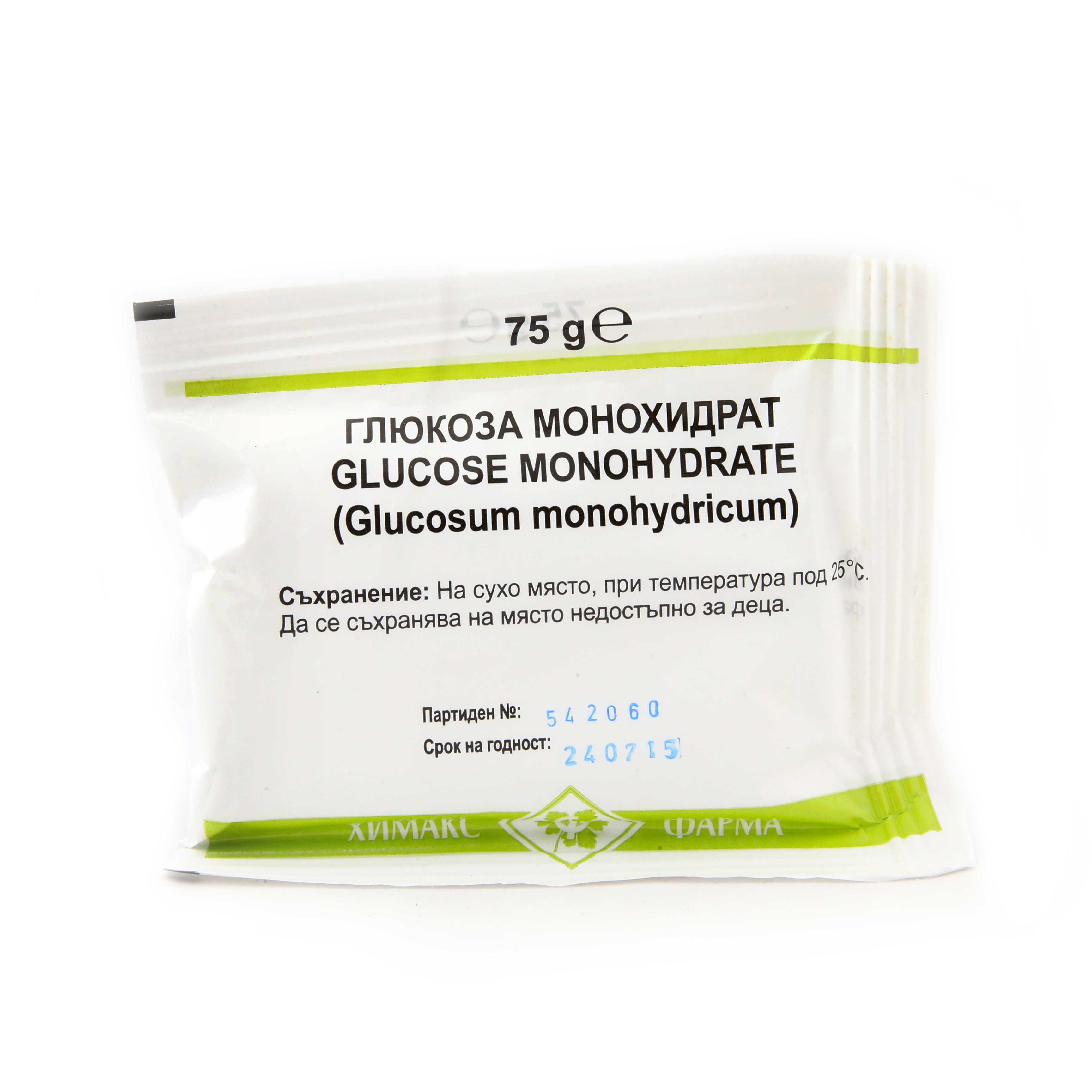 Описание:  ГЛЮКОЗА / GLUCOSE на Химакс Фарма е прост монозахарид, който се явява от най-важните въглехидрати в биохимията и се използва за един от най-разпространените методи за диагностика на заболяването диабет - глюкозо- толерантния тест. Клетките я използват като източник на енергия и посредник в метаболитните процеси.  Глюкозата е един от основните продукти на фотосинтезата и се разгражда при клетъчното дишане както при прокариотите, така и при еукариотите в  процеса на  отделяне на енергия.  Състав:   Глюкоза Монохидрат съдържа:глюкоза фина (декстроза).  Хранителна стойност в 100 g:  белтъчини 0.0 g; мазнини 0.0 g; въглехидрати 99.9 g; хранителни влакнини 0.0 g; натрий 0.0 mg.  Нашият квалифициран магистър- фармацевт ще Ви препоръча най- качествените и подходящи за Вас продукти на ниска цена! Не се колебайте да му пишете всеки делничен ден между 09:00 и 18:00 часа чрез лайв чат функцията вдясно!