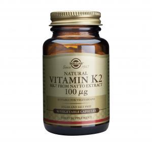 Натурален Витамин К2 / Natural Vitamin K2 100 μg х50 растителни капсули – SOLGAR