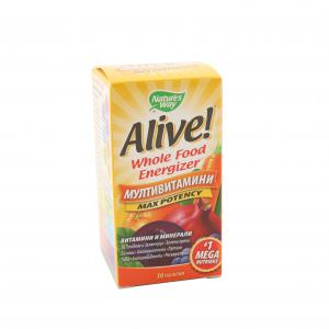 МУЛТИВИТАМИНИ АЛАЙВ / MULTIVITAMINS ALIVE  таблетки х 30 – NATURE`S WAY