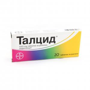 ТАЛЦИД / TALCID таблетки 500 мг x 20 -Bayer