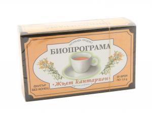 ЧАЙ ЖЪЛТ КАНТАРИОН – кутия х 20 бр – Биопрограма