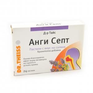 Анги Септ Пастили Салвия / Angi Sept Pastilles Salvia х24 таблетки – Dr. Theiss