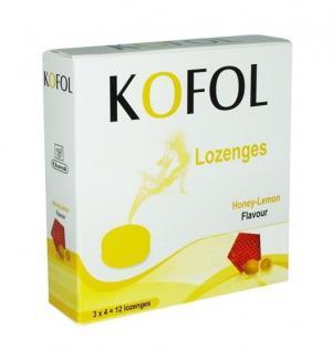 КОФОЛ / KOFOL бонбони с вкус на мед и лимон х 12 – Charak