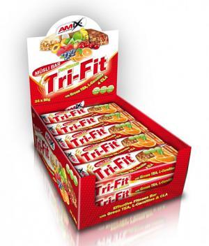 Amix Tri Fit Musli Bar / Амикс Три Фит Мюсли Бар Протеиново Блокче х 24 блокчета