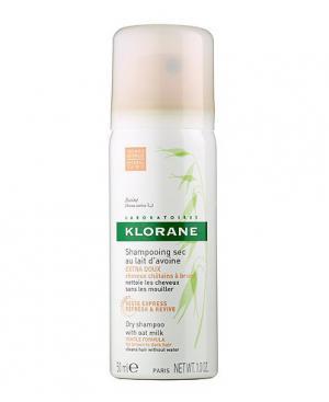 Klorane Сух шампоан с мляко от овес за кестенява и тъмнокестенява коса x50 мл