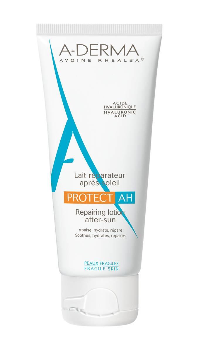 Описание наA-Derma Protect AH лосион за след слънце х250мл:   За да успокоите парещия ефект от излагането на силните слънчеви лъчи, използвайте този лосион за след слънце на А-Derma. Продуктът хидратира добре изсушената кожа, като компенсира загубата на вода. Хиалуроновата киселина и маслото от овес се борят срещу дехидратацията и увеличената възможност за атака на Вашата кожа от различни микроорганизми.Предлага се в удобна опаковка от 250 мл.    Състав наA-Derma Protect AH лосион за след слънце х250мл:   1: Хиалуронова киселина: хидратира, успокоява и възстановява уязвимата кожа след излагане на слънце.2: ПАТЕНТОВАНА СЛЪНЦЕЗАЩИТНА ИНОВАЦИЯ*: Barriestolide®, извлечен от Масло от Кълнове от Овес Rhealba®: подсилва уязвената от слънце кожна бариера.3: Масло от Кълнове от Овес Rhealba® : съхранява клетъчните защити срещу UVA лъчите.  Без: парабени, феноксиетанол, алкохол