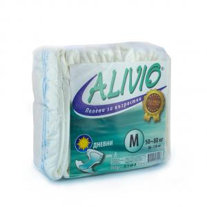 """Alivio Diapers / Аливио Пелени за възрастни /памперси/  """"М"""" дневни 50-80кг х 10бр -Euroactive"""