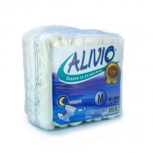 """Alivio diapers night size M 50-80 kg./ Аливио Пелени за възрастни /памперси/ """"M"""" нощни, 50-80кг х 10бр – Euroactive"""