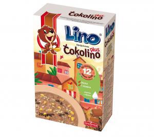 ЛИНО Чоколино Плюс детска зърнена закуска / Lino Chokolino Plus х 200гр – Podravka
