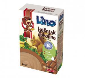 ЛИНО Чоколино Лешник детска зърнена закуска / Lino Chokolino Hazelnut х 200гр – Podravka