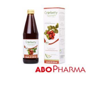 Био Сок от Червена Боровинка / Cranberry Bio Juice 100% х330мл – Abopharma
