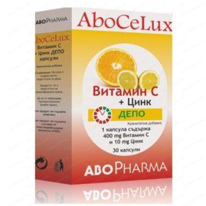 Витамин Ц + Цинк Депо / Vitamin C + Zink Depo x30 капсули – AboPharma
