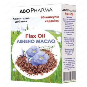 Ленено масло / Flax Oil 1000мг х60 капсули – Abopharma