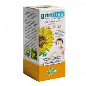 Grintuss Pediatric Cough Syrup / Гринтус Сироп за Деца за суха и влажна кашлица х210 грама – Aboca
