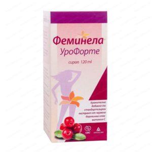 Feminella UroForte Сироп за чист уринарен тракт с екстракт от червена боровинка x120 мл