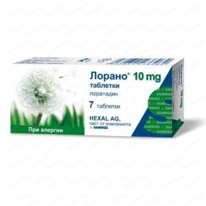 Lorano / Лорано при алергии 10мг х7 таблетки – Sandoz