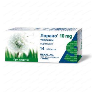 Lorano / Лорано при алергии 10мг х14 таблетки – Sandoz