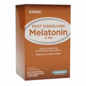 Melatonin / Мелатонин при безсъние 5мг х60 сублингвални таблетки – GNC