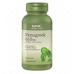 Fenugreek / Сминдух за нормални нива на кръвната захар и холестерола 610мг х100 капсули – GNC