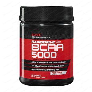 Pro Performance RapidDrive BCAA Amino Acids 5000 Fruit Punch / Про Пърформънс Рапид Драйв БЦАА Аминокиселини 5000 спортна храна с вкус на плодов пунш х350 грама – GNC